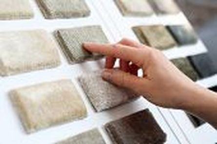 Person selecting Carpet